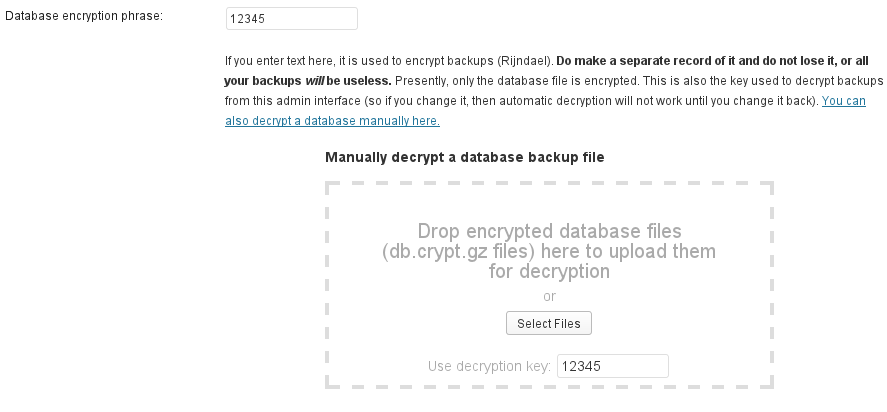 Decrypt database