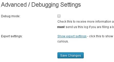Expert settings