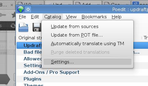 Editing the translation details