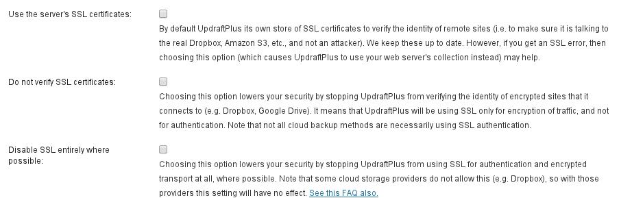 SSL expert options