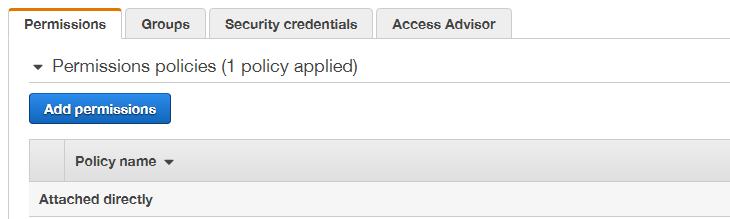 IAM permissions, add permission option