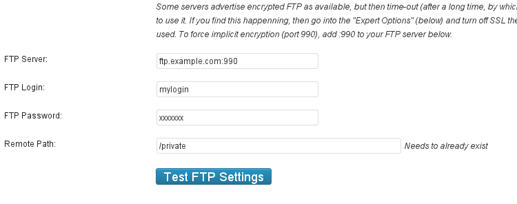 SFTP - implicit encryption