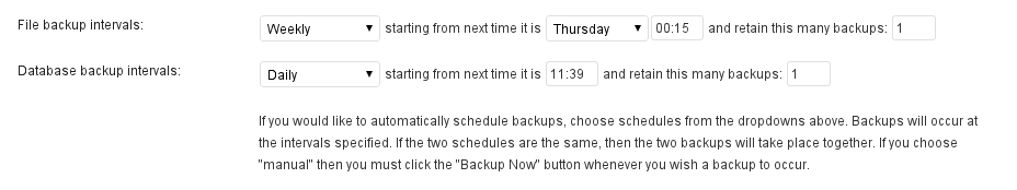 Backup scheduling
