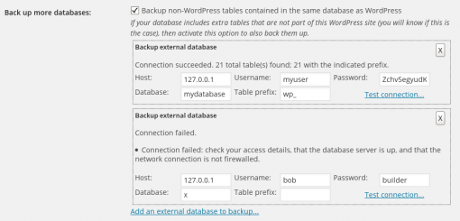 Configuring databases