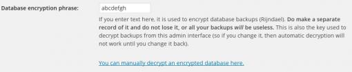 Configuring encryption