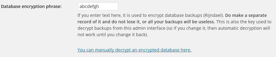 Configuring encryption