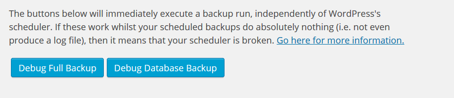 Debug Full Backup