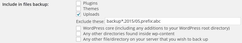 Excluding files via prefix