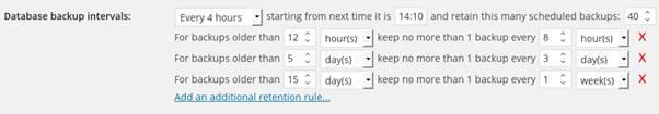 Retention rules