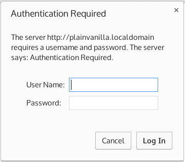 HTTP password authentication