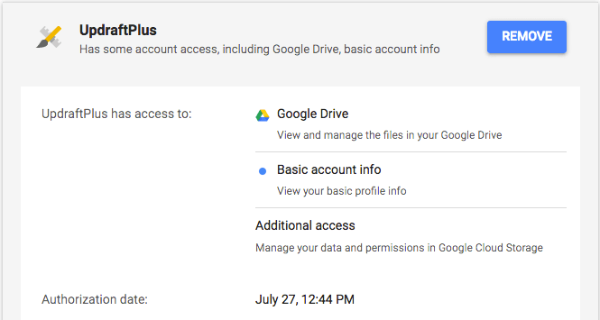 How do I unlink UpdraftPlus from my Google Drive? - UpdraftPlus