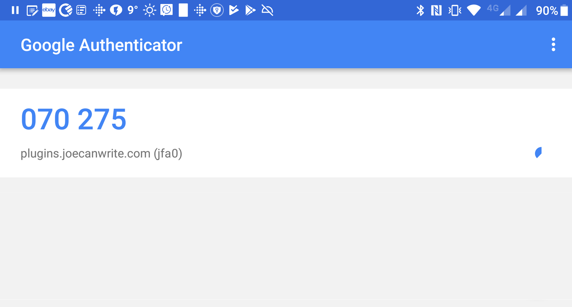 Two Factor Authentication Google App