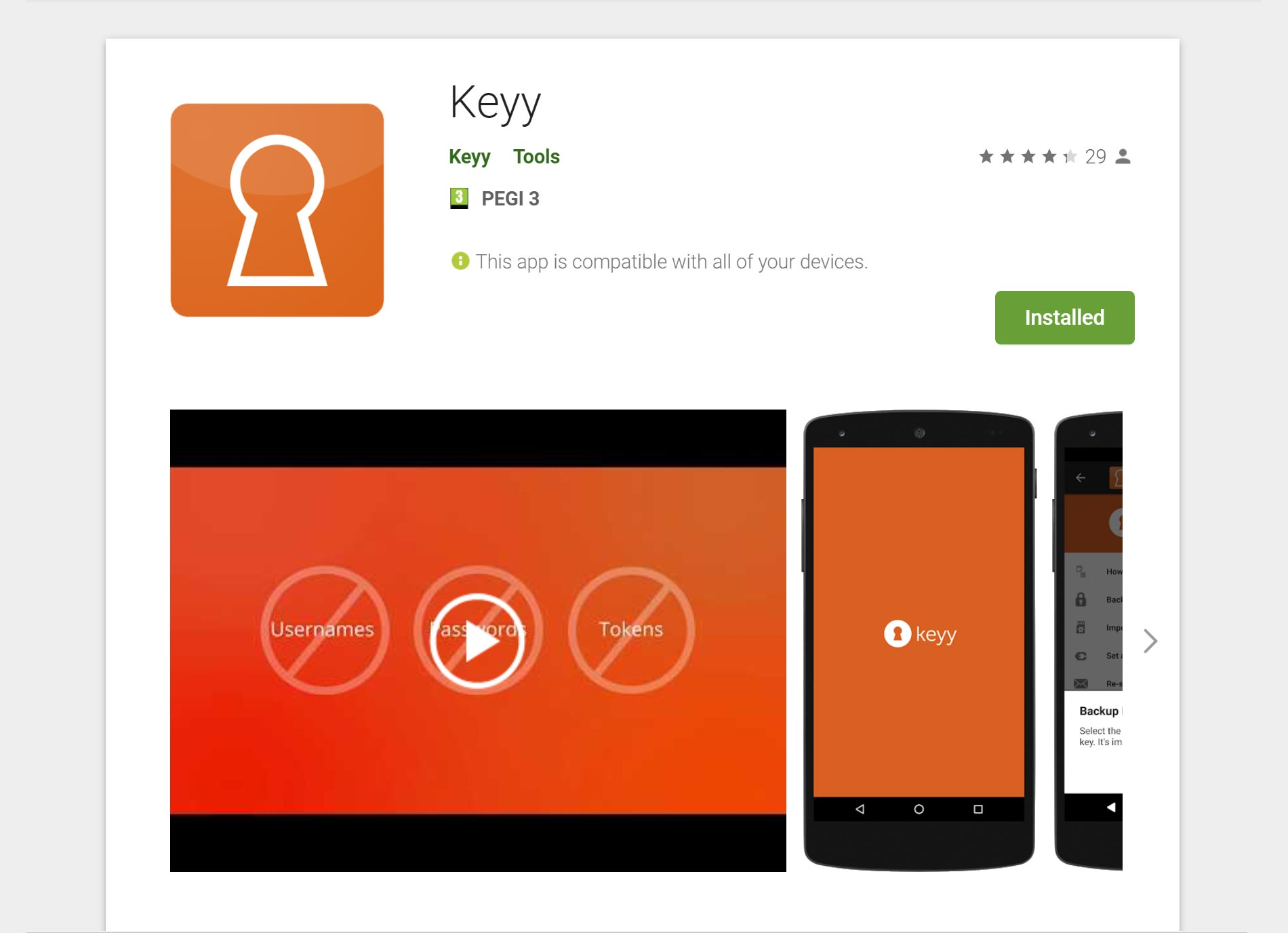 Two Factor Authentication Keyy Play Store